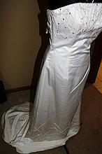Wedding Dress. Brand new with tags, ivory satin dress,