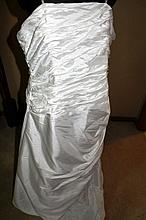 Wedding Dress. Brand new with tags, white taffeta dress
