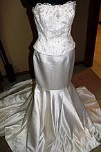 Wedding Dress. Brand new with tags, 2 piece dress,
