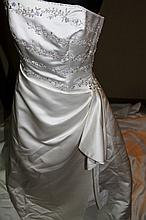 Wedding Dress. Brand new with tags,  White satin gown