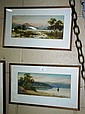 2 x William Lindley watercolours, both lake scenes