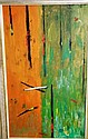 Oil on board abstract motif, unsigned, information