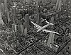 Bourke-White, Margaret: DC Flying over Manhattan, NYC