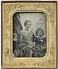 Daguerreotypes: Portrait of mother and daughter