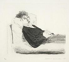 Hockney, David: Reclining Figure