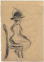 Zille, Heinrich: Sitzende Dame im Lokal