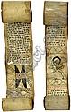 Geisterrollen: 2 äthiopische Geisterrollen. 19. Jahrhundert