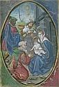 Anbetung der Könige: Miniatur auf Pergament. Um 1490
