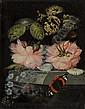 Elliger d. Ä., Ottmar: Stilleben mit Rosen und Vergissmeinicht