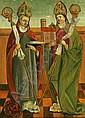 Schwäbisch, um 1510: Die Heiligen Ulrich und Wolfgang