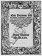 Luther, Martin: Eyn Sermon von der wirdigen empfahung. 1521 EA