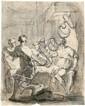 Augsburgisch - um 1670 Medea serviert Jason ihre
