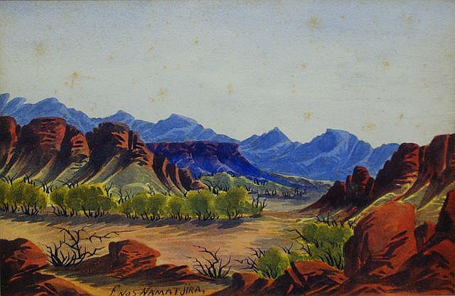 Enos Namatjira (1920-1966), (Untitled)