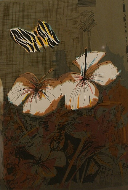 Charles Blackman (born 1928) Tiger Butterfly 1970 screenprint