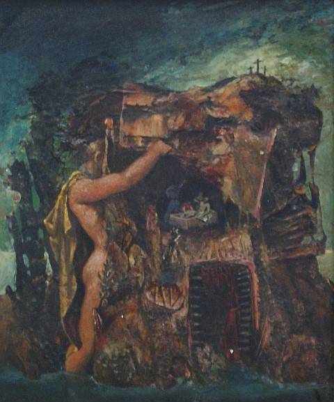 James Gleeson (1915-2008) The Entombment (1952) oil on panel