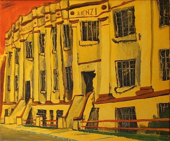 Victor Rubin (born 1950) Rienzi 1978 oil on canvas