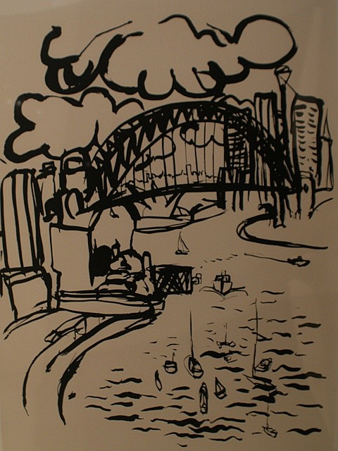 Brett Whiteley (1939-1992) Sydney Harbour 1980 screenprint