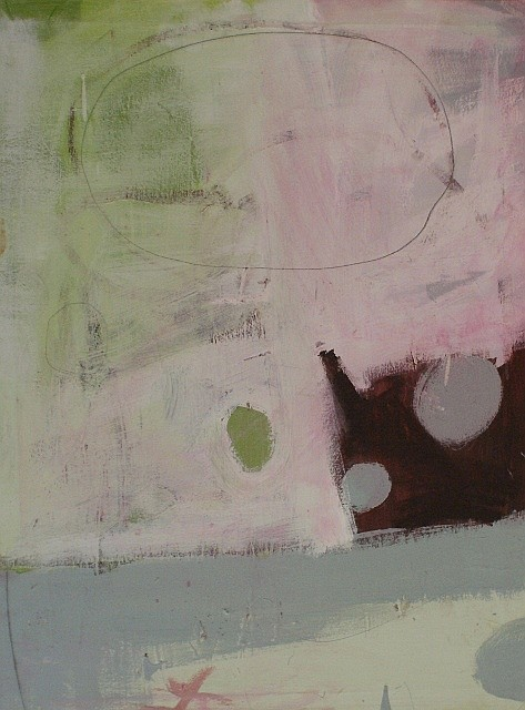 Heidi Tansey Floating I acrylic and oil stick on canvas