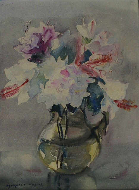 Margaret Coen (1913-1993) Hibiscus watercolour