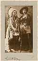 SITTING BULL AND BUFFALO BILL by William Notman, Montreal, 1885.