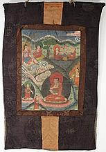 A 19th century Tibetan tanka: depicting figures