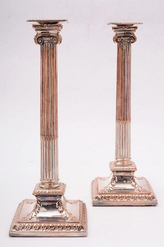 A pair of 19th Century Sheffield plated