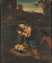 After Raphael, 19th Century- Madonna and Child:- oil on canvas 79 x 66cm