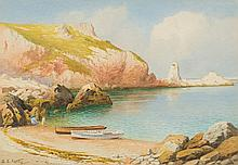 Samuel Edward Kelly [1862-1945]-  -   Redgate Beach at Anstey's Cove:- signed watercolour 25.5 x 37cm.