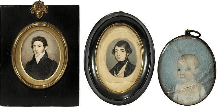 English School (circa 1810): Miniature portrait of