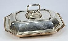 A George V silver entree dish and cover, maker