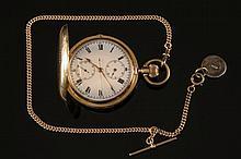 A gentleman's keyless lever hunting cased pocket