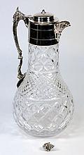 An epns mounted claret jug: of globular form with