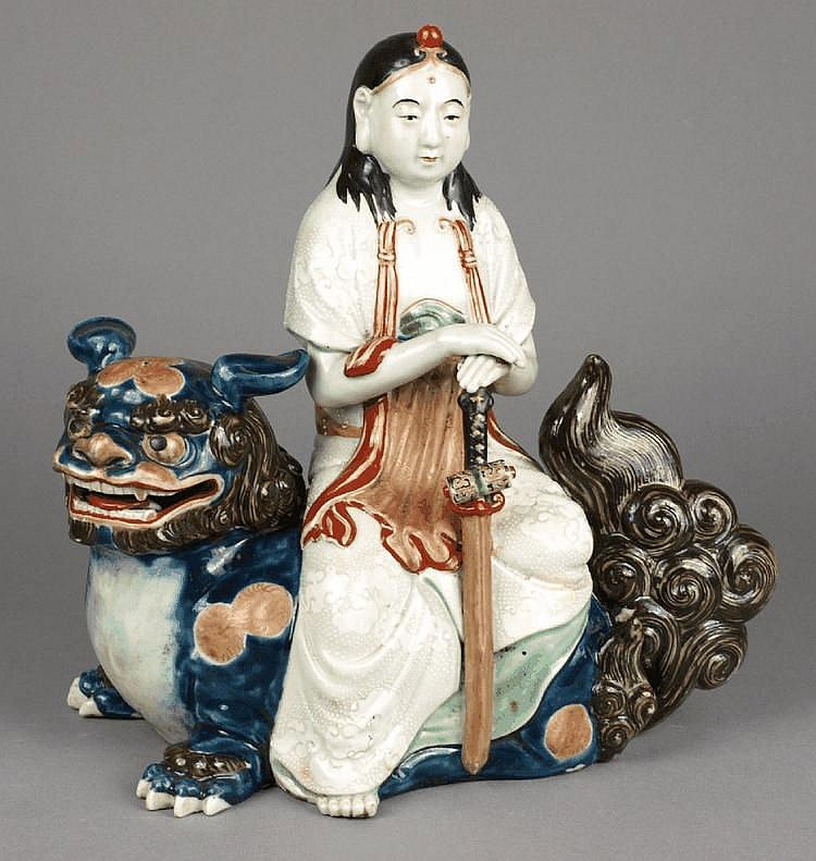 A late 19th/early 20th Century Satsuma figure:, of