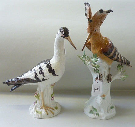 A Meissen model of a bird (a.f.) and another, also