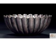Ikoma made sterling silver daisy fruit bowl weighs about 212g