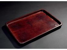 Wood tea tray