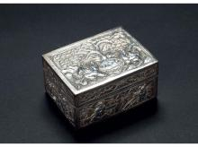 "Panasonic models SCHOLAR silver embossed box ""Manley"""