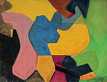 George Joseph ZELTER, né en 1938 Composition abstraite