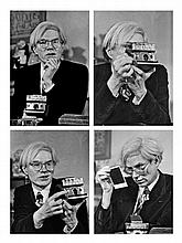 Jean-Pierre LAFFONT, né en 1935 Andy Warhol in his office on Union Square.March 1st, 1974, New York City.