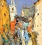 Michel CALVET, né en 1956 RUELLE à MARRAKECH Huile, Michel Calvet, Click for value