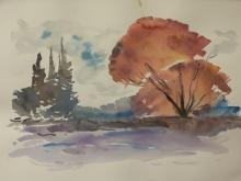 Watercolor on Paper (38D)