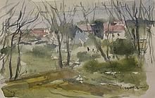 Watercolor on Paper by School of Pissaro (50D)