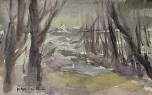 Watercolor on Paper by School of Pissaro (56D)