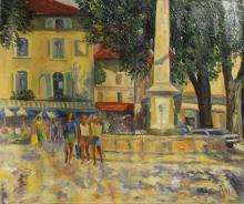Original Acrylic on Canvas by Nicolas B. (32C)