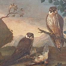 Neapolitan School, Still Life with Falcons