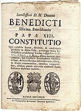 [Papal edict on public life] Papal Laws 1727 NOT IN USA