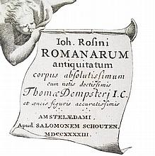 [Roman History, Archeology] Rosinus, 1743