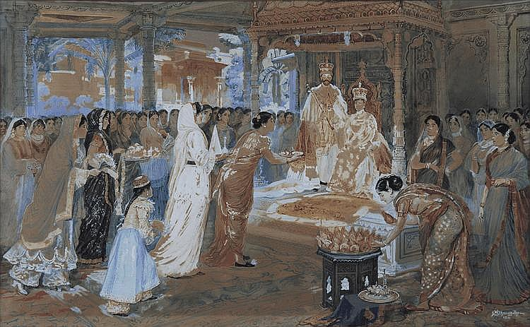 Mahadev Vishwanath Dhurandhar (1867-1944), Untitled (The Coronation)