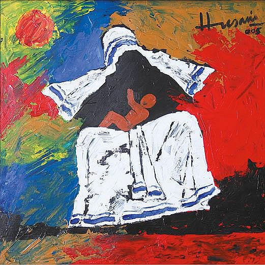 Maqbool Fida Husain (1915-2011), Untitled (Mother Teresa series)