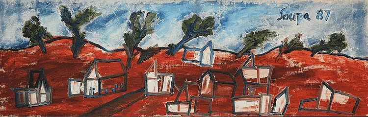 Francis Newton Souza (1924 - 2002), Landscape